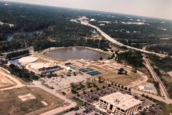 Aerial View: Canal Waterworks