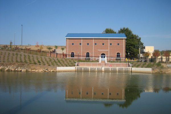 Raw water intake building.
