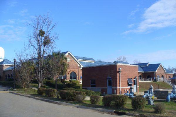 Control building.